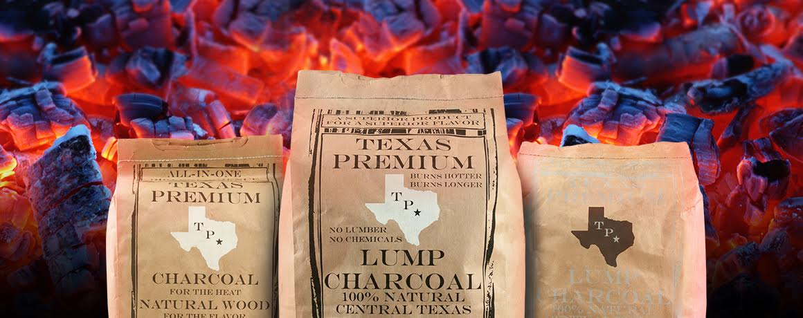 Texas Premium Charcoal brands hero background