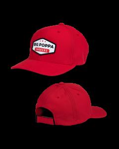 Big Poppa Smokers Red Vintage Patch Hat - Flexfit