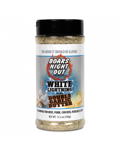 Boars Night Out White Lightning Double Garlic Butter - 12.2oz