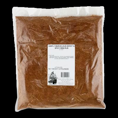 Simply Marvelous BBQ Sweet & Spicy BBQ Rub - 5lb Bag