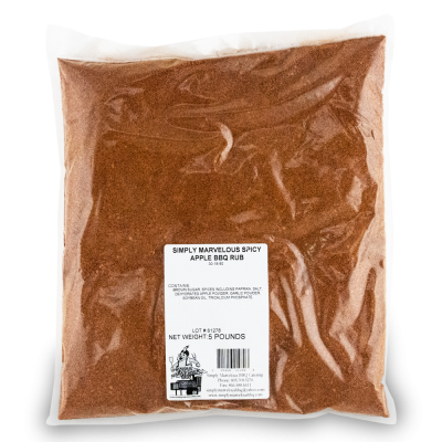 Simply Marvelous BBQ Spicy Apple BBQ Rub - 5lb Bag