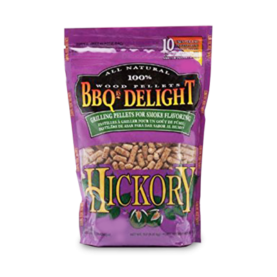 BBQr's Delight Hickory Wood Pellet Bag - 2 lb.