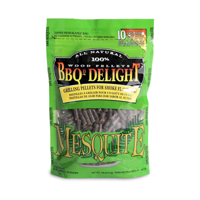 BBQr's Delight Mesquite Wood Pellet Bag - 2 lb.