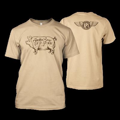 Smokin' Easy Big Poppa Smokers Pig T-Shirt