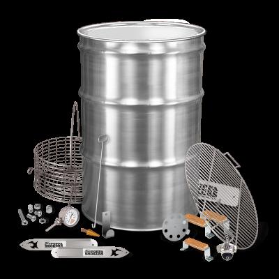 BPS SS Drum Smoker Kit