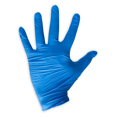 Blue LifeGuard Nitrile Food Gloves