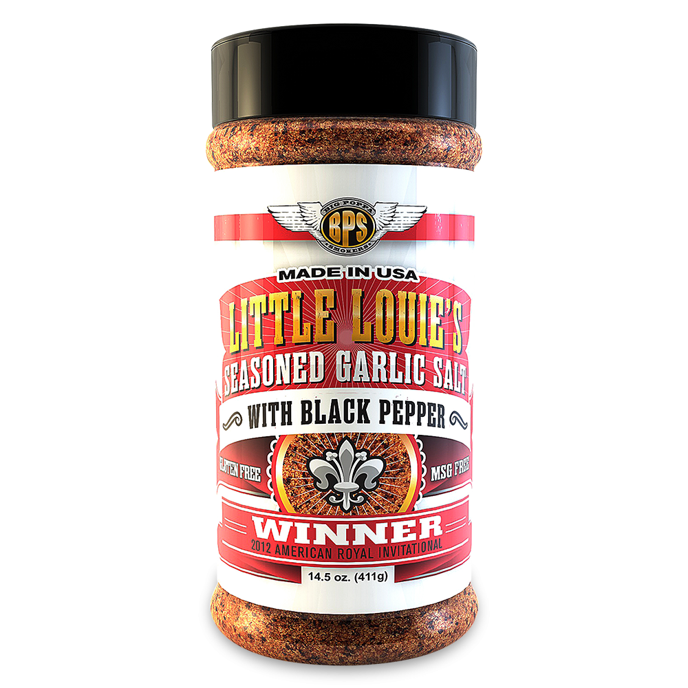 Little Louies Garlic Salt W/ Black Pepper - 14.5oz