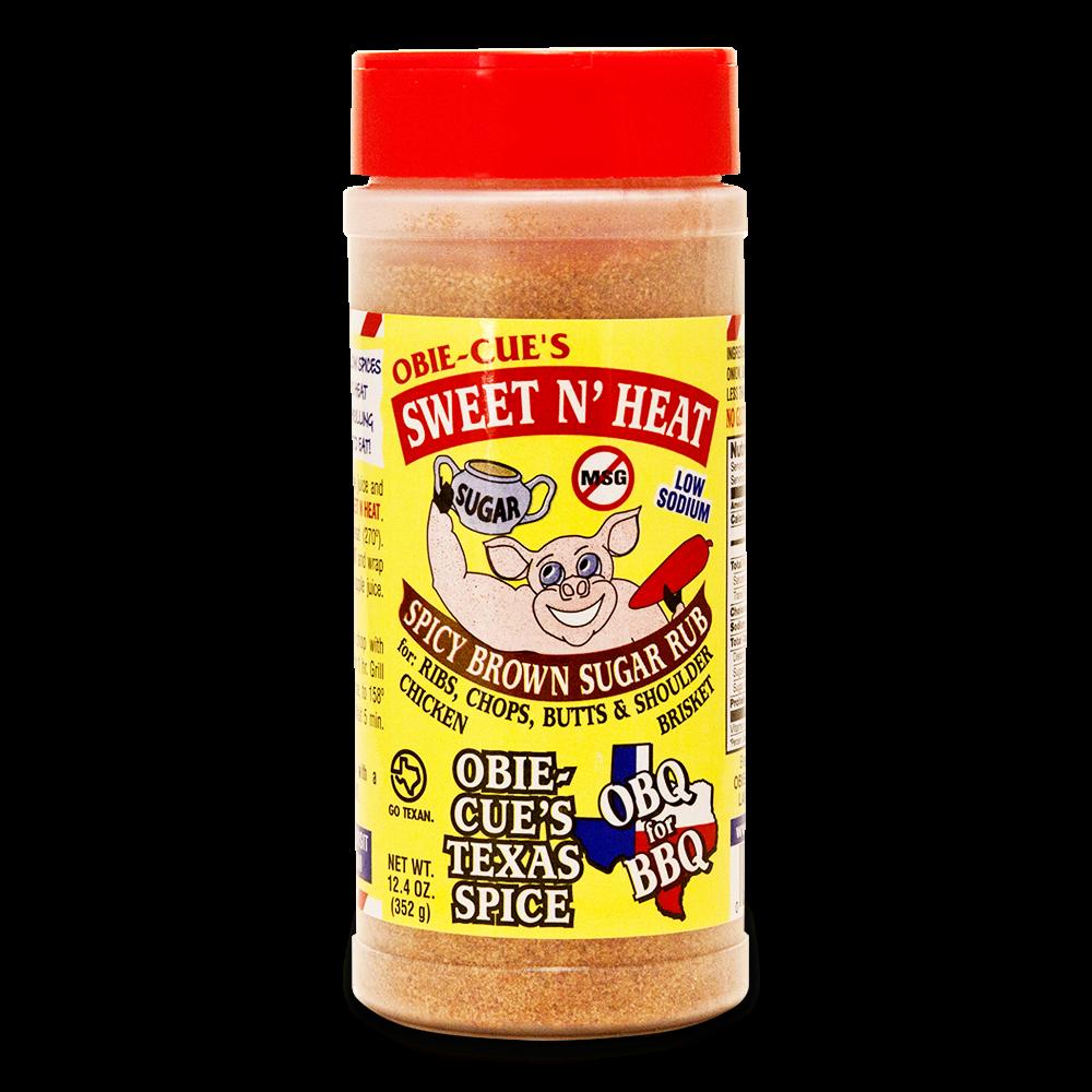 Obie-cues Sweet N Heat Bbq Rub - 12.4oz