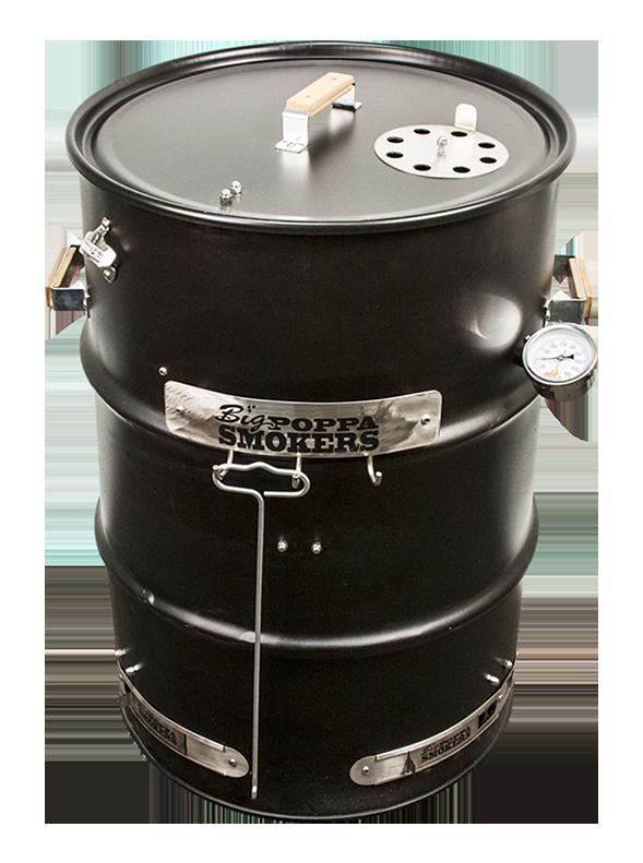 BPS Drum Smoker Assembled Black